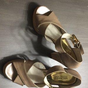 Michael Kors Patent leather nude heels.